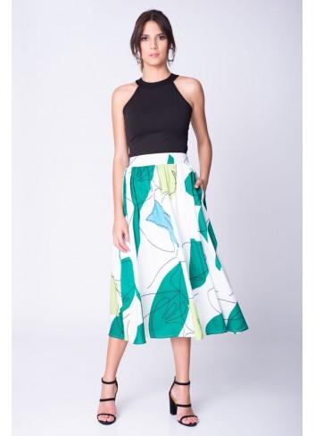 Falda Estampación Abstracta