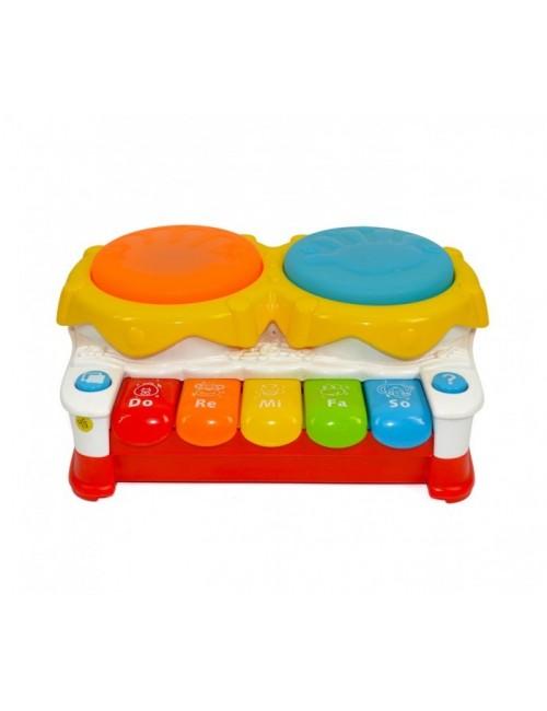 Drum Piano y Tambores Interactivos con Luces y Sonidos
