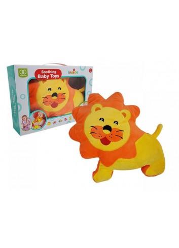 Cojin de peluche león feliz